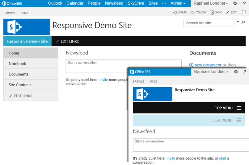 Responsive SharePoint for SharePoint Foundation 2013 and Office 365 ...